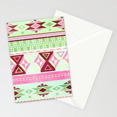 Neon Aztec Stationery Cards