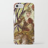 safari iPhone & iPod Cases featuring Safari by Bea González