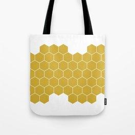 Honeycomb White Tote Bag