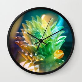 psychedelic pineapple Wall Clock