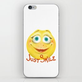 Just Smile :) iPhone Skin