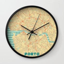 Porto Map Retro Wall Clock