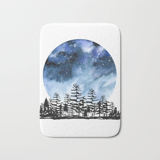Frozen Sky Bath Mat