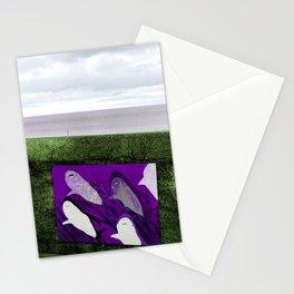 violet sharks Stationery Cards
