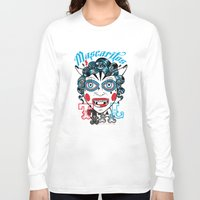peru Long Sleeve T-shirts featuring Mascaritos PERU by Tonton AL
