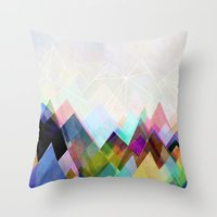 mountain Throw Pillows featuring Graphic 104 by Mareike Böhmer