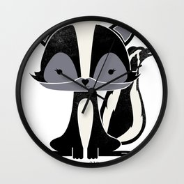 Sadie the Skunk Wall Clock