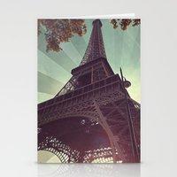 eiffel tower Stationery Cards featuring Eiffel Tower by Rhianna Power