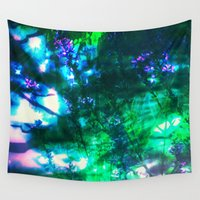 goth Wall Tapestries featuring Wildflowers Goth Abstract by minx267