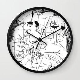 Fear - b&w Wall Clock