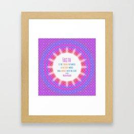 Emerge into the Light Framed Art Print