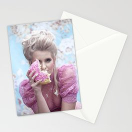 Let them eat cake - a modern Marie Antoinette Stationery Cards