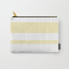 Mixed Horizontal Stripes - White and Blond Yellow Carry-All Pouch