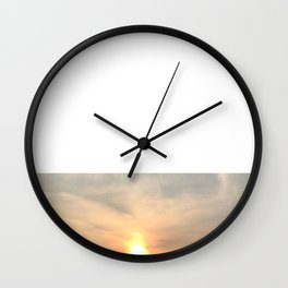 Paddle Into the Sunset Wall Clock