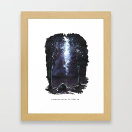 I Never Fell For You; You Tripped Me Framed Art Print