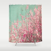 blossom Shower Curtains featuring Blossom by Cassia Beck