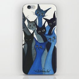 Escondido Whimsical Cats iPhone Skin