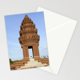 Independence Monument in Phnom Penh Stationery Cards