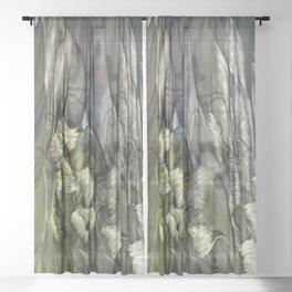 Uranus, Father of Zeus Sheer Curtain