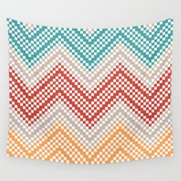 C13 pattern series - pixel chevron Wall Tapestry