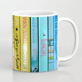 Rainbow Book Spines Coffee Mug