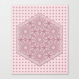 Six Knots Pale Pink Canvas Print