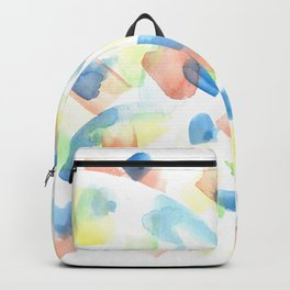 180527 Abstract Watercolour 1| Watercolor Brush Strokes Backpack