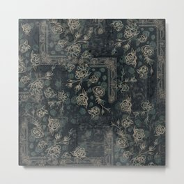 """Tapestry Floral- Colorway """"B"""" Metal Print"""
