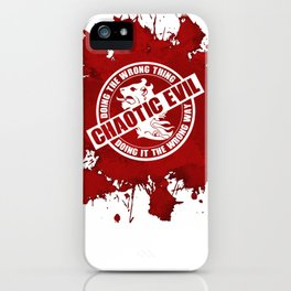 d20 Chaotic Evil Alignment iPhone Case