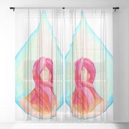 Tear Drop-Vivid Sheer Curtain