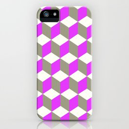 Diamond Repeating Pattern In Ultra Violet Purple and Grey iPhone Case