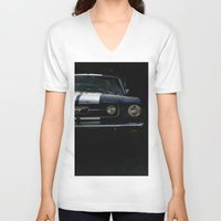 mustang V-neck T-shirts featuring MUSTANG by David Bascuñana