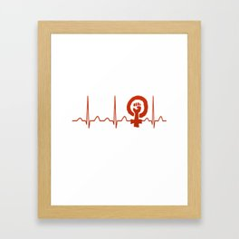 Sociologist Heartbeat Framed Art Print