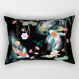 Japanese Water Garden Rectangular Pillow