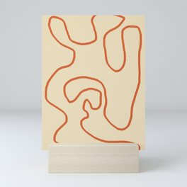 Abstract Line Art 1 (Terracotta) Mini Art Print