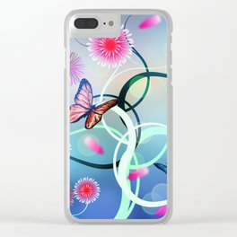 Dahlias and Vines Clear iPhone Case