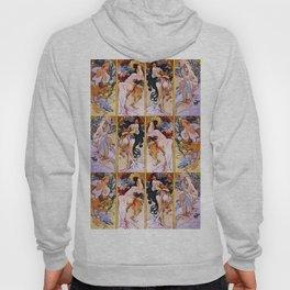 """Alphonse Mucha """"The Seasons (series)"""" (1897) Hoody"""