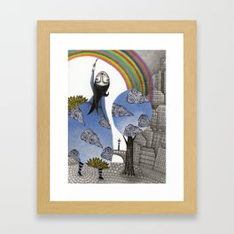 Rainbow Mine Framed Art Print