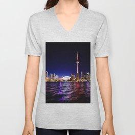 toronto city cn tower skydome Unisex V-Neck