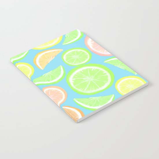 Mixed Citrus - blue Notebook