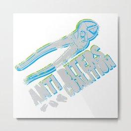 Anti Biters Coalition Metal Print