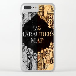 Marauders Map Clear iPhone Case