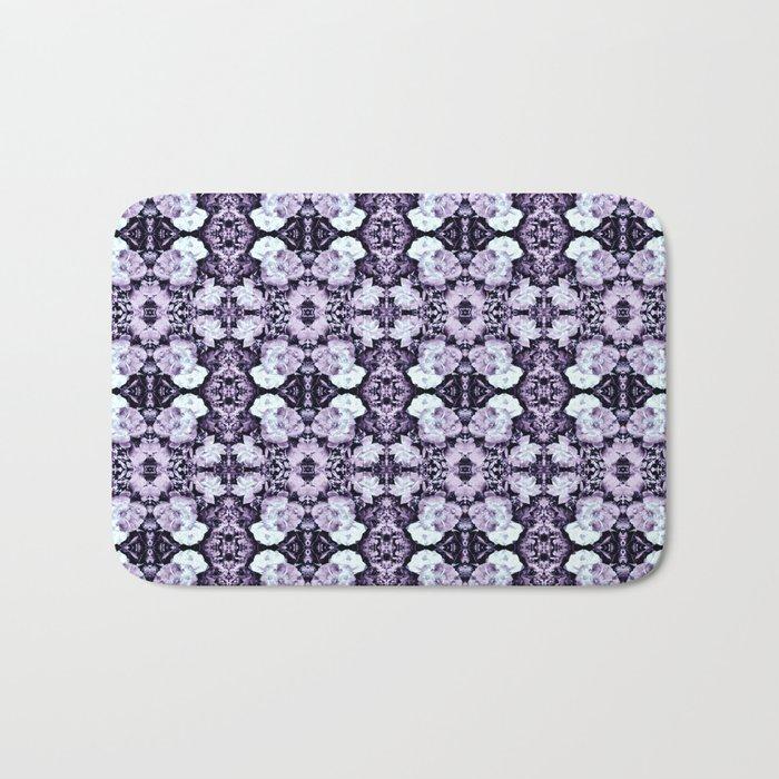 Violet  Roses Seamless Pattern Bath Mat