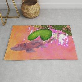 Koi Fish Pond Rug