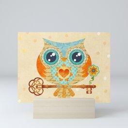 Owl's Summer Love Letters Mini Art Print