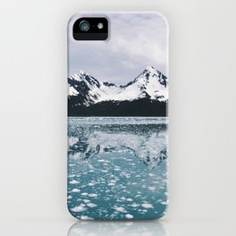 Icy Kenai reflection iPhone Case