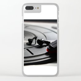 Scratching Circles Clear iPhone Case