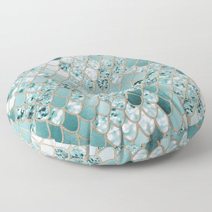 Mermaid Glitter Scales #3 #shiny #decor #art #society6 Floor Pillow
