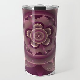 Magenta mandala dream catcher Travel Mug
