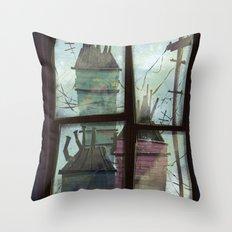 window to somewhere Throw Pillow